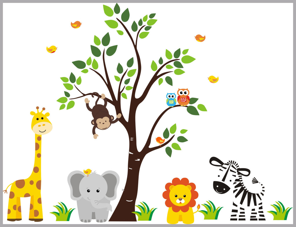 Safari Animal Kids Decals