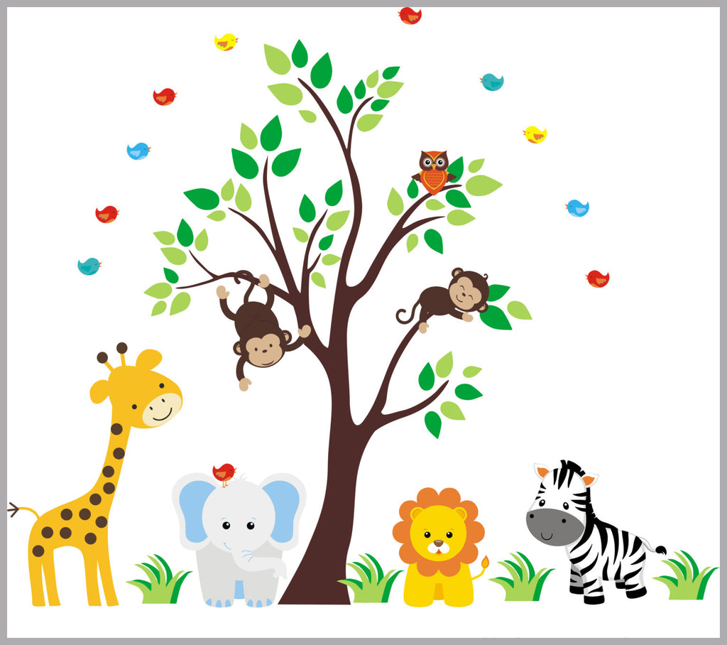 Safari Nursery Decals