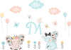 Girls Elephant Decals