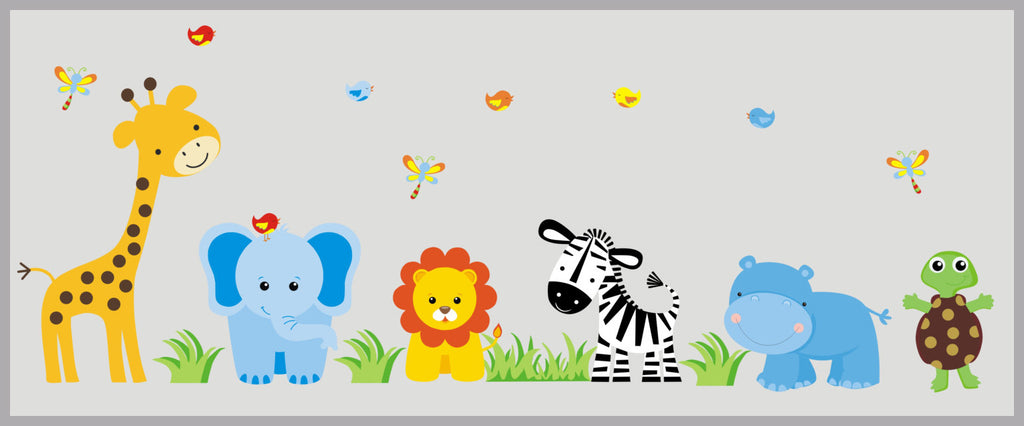 Animal Wall Decals   Nursery Wall Decals   Large Animals Decals   Removable Wall  Decal