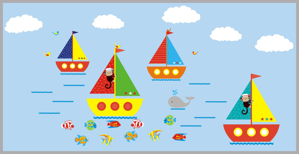 Boat and Ocean Nursery Decals
