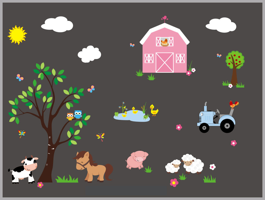 Cow Sheep Barn Horse Decals