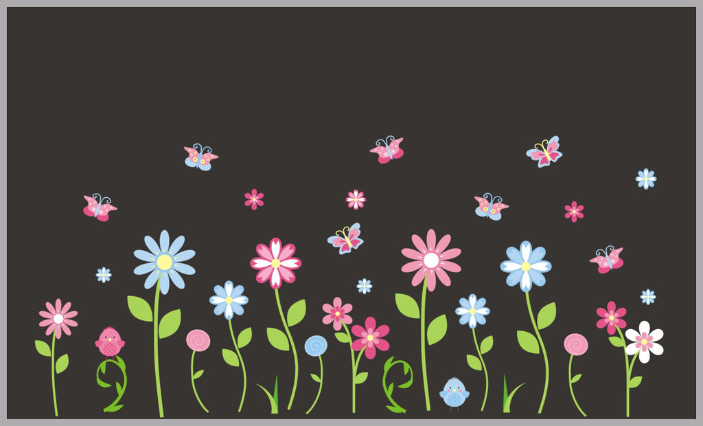 Nature Flowers Pink Decals