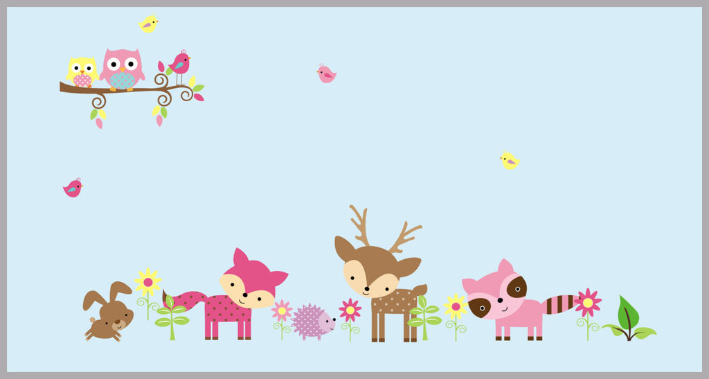 Girls Forest Baby Stickers