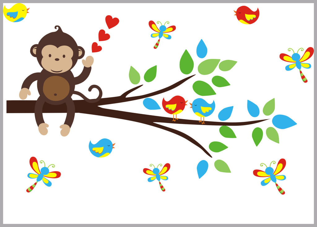 Monkey and Branch Decal