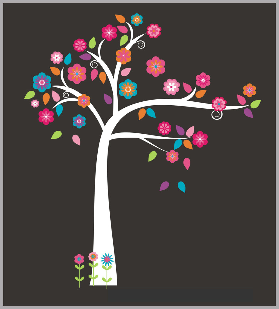 Pink Girls Tree Stickers