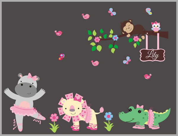Baby Jungle Animal Decals