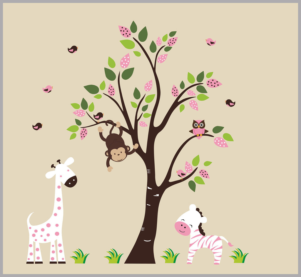 Pink Baby Animal Stickers
