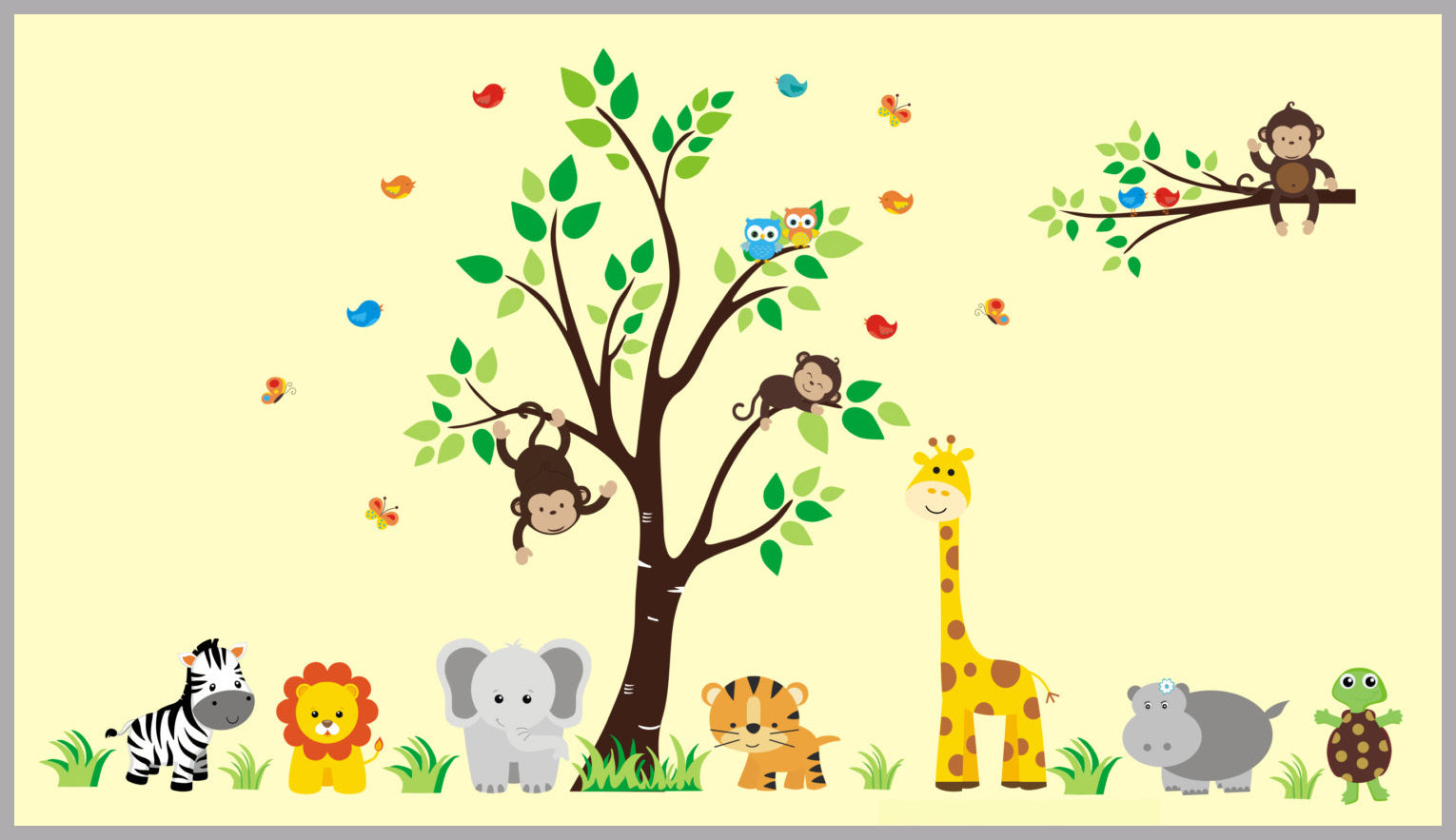 Safari Animal Stickers | Childrens Wall Decals for Nursery Room ...