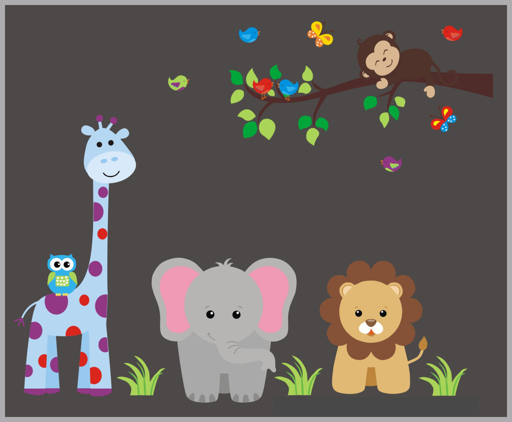 Zoo Animal Decals