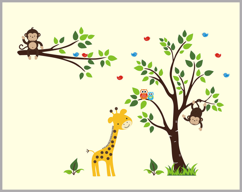 Nursery Adhesive Decals Reusable