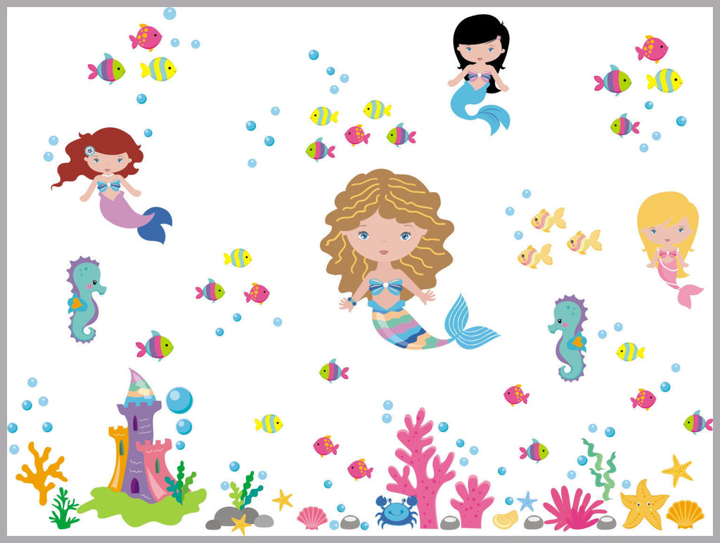 Mermaid Girls Baby Decals