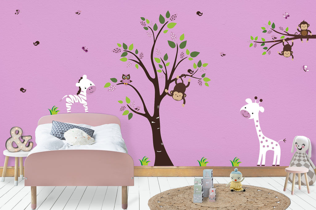 Purple and White Nursery Decals
