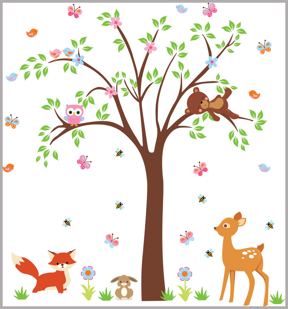 Woodland Nursery Decals