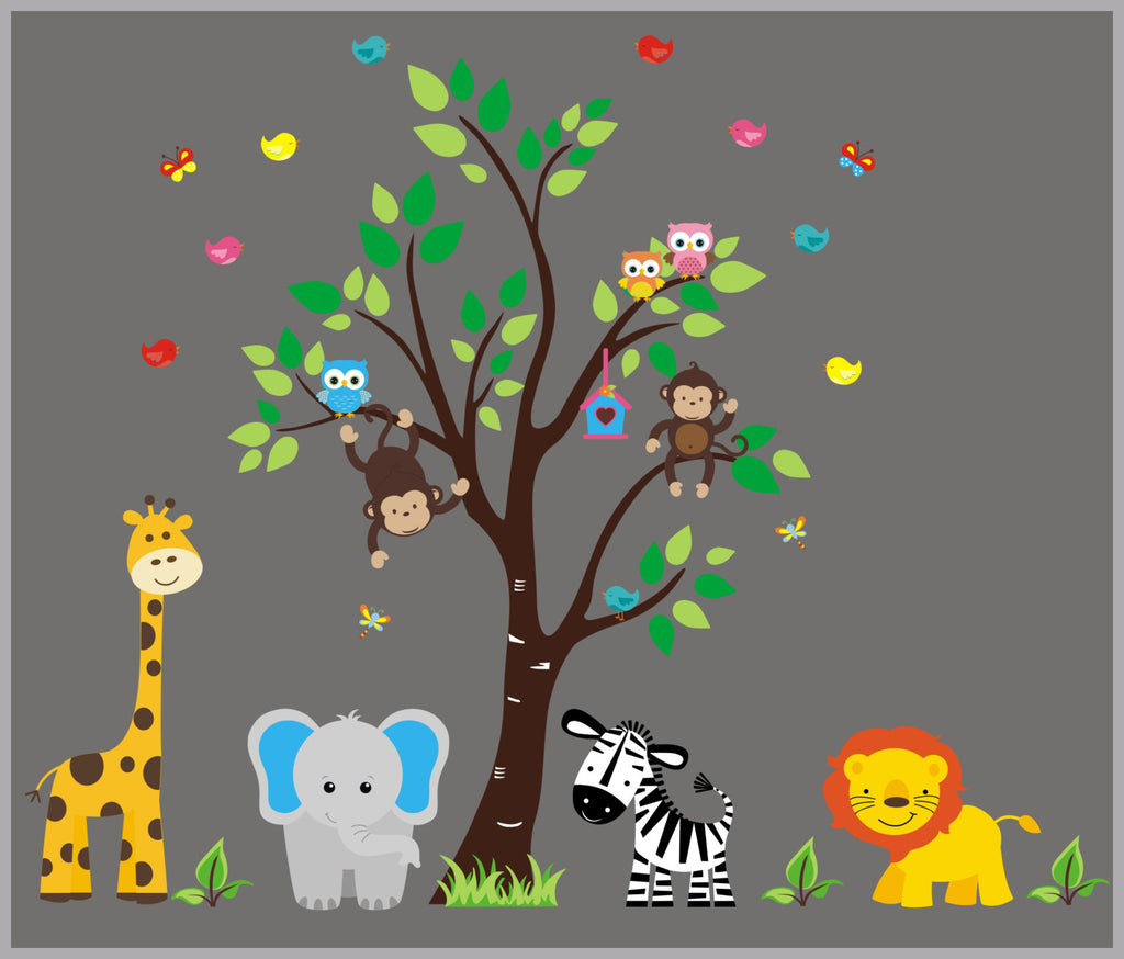 Zoo Animal Kids Mural