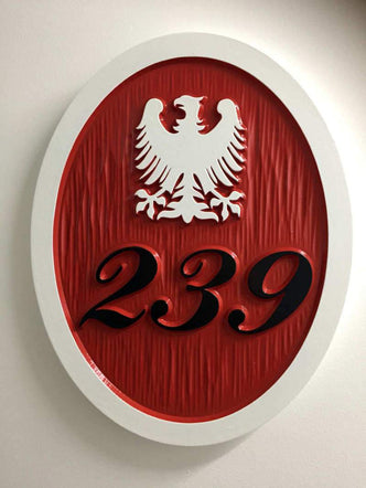 Polish Eagle House Number Address Sign- any color (HN11) - The Carving Company