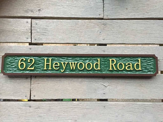 62 heywood road street name sign