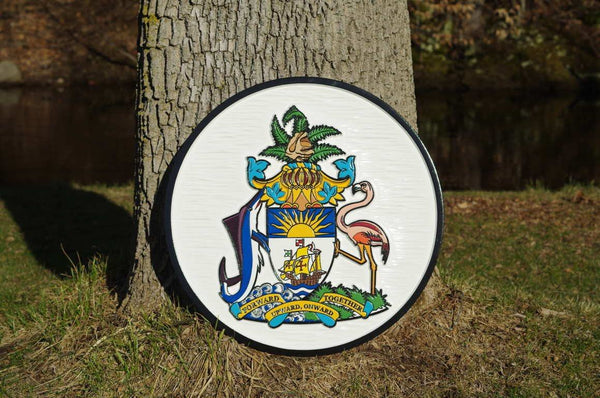 Custom made bahama coat of arms sign