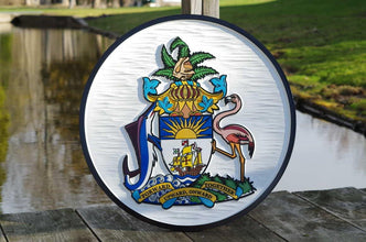 Bahama Coat of Arms / Tropical Entrance Sign  (F19) - The Carving Company
