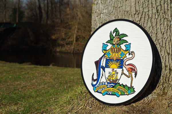 Tropical Coat of Arms sign Custom made