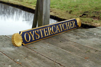 Nantucket Quarterboard Custom House Name Signs with Decorative Scalloped Ends (Q73) - The Carving Company