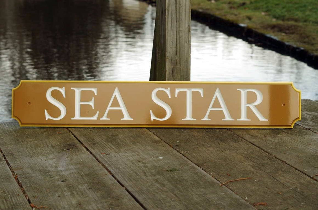 Carved Quarterboard sign - Customized with your name and color (Q63) - The Carving Company