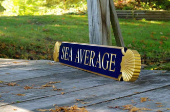 Nantucket Quarterboard Customized Cottage Name Sign with Decorative Scallop Ends (Q74) - The Carving Company