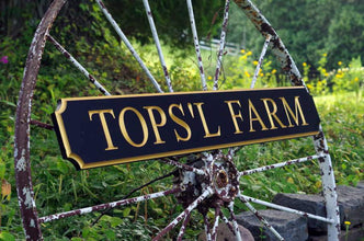 Custom Engraved v-carved Quarterboard sign for Farm Business - Add your name (Q69) - The Carving Company