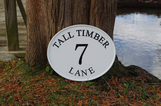 Address Marker Sign with Street Name, Large house number (A133) - The Carving Company