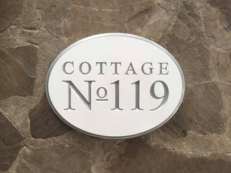 Address Number sign for Cottage, Home, or Business - Made to Order (A102) - The Carving Company