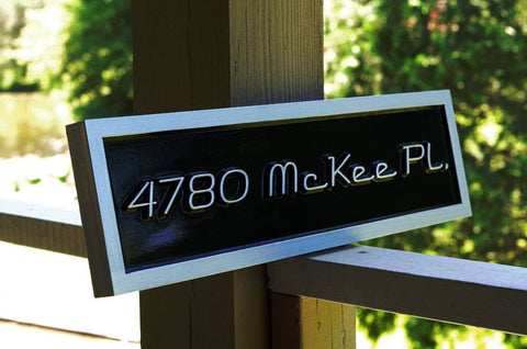 Custom carved address signs from the carving company page 4 for Design your own house sign