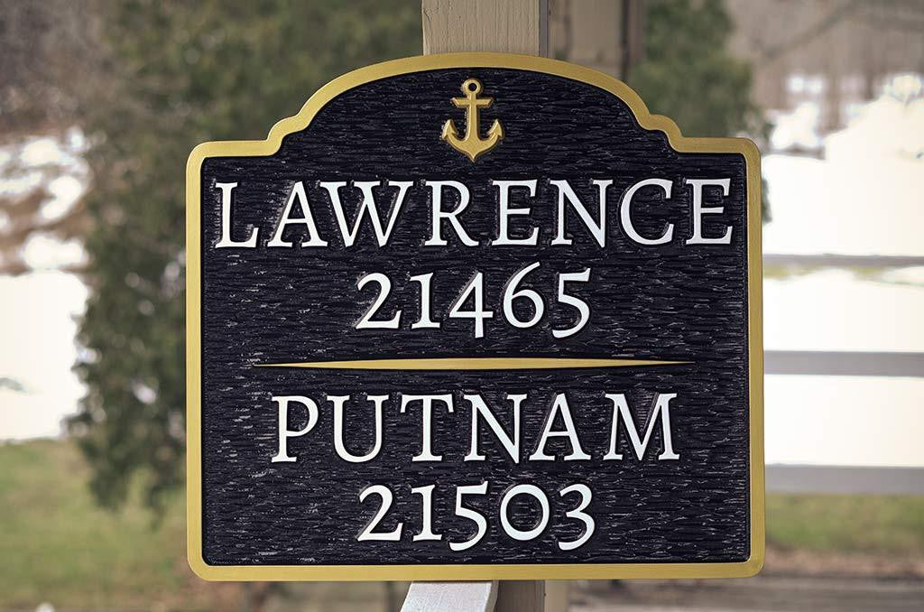 Duo Last name address sign - Custom Made to Order (A96) - The Carving Company