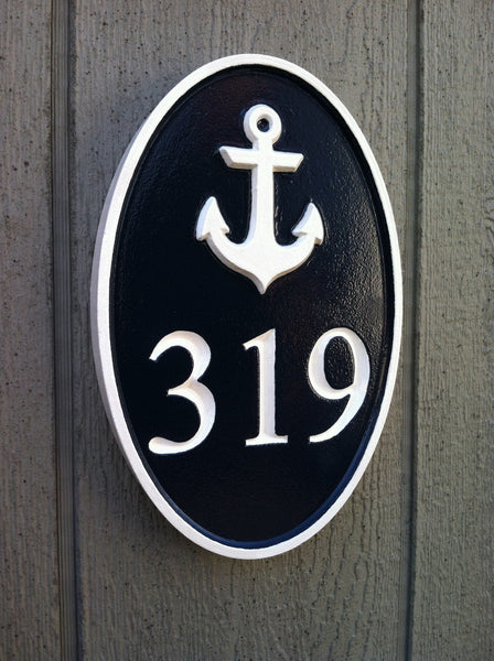 319 with anchor house number sign - iso
