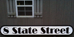 State Street Address Sign - Quarterboard