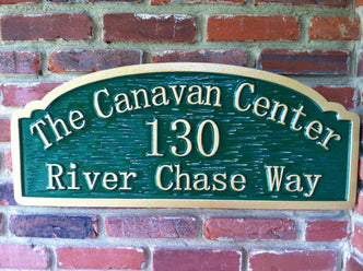 Custom Carved Dimensional Outdoor Business Address Sign (A34) - The Carving Company