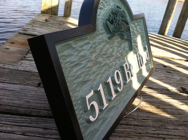 5119 Bedford address sign with bass- iso2