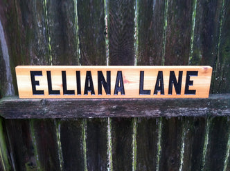 Personalized Street Name for Home decor or Outdoor use (A14) - The Carving Company
