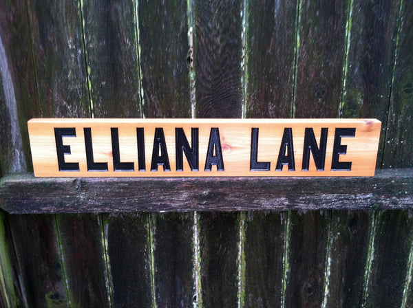 Personalized Street Signs >> Personalized Street Name Cedar carved sign – The Carving Company