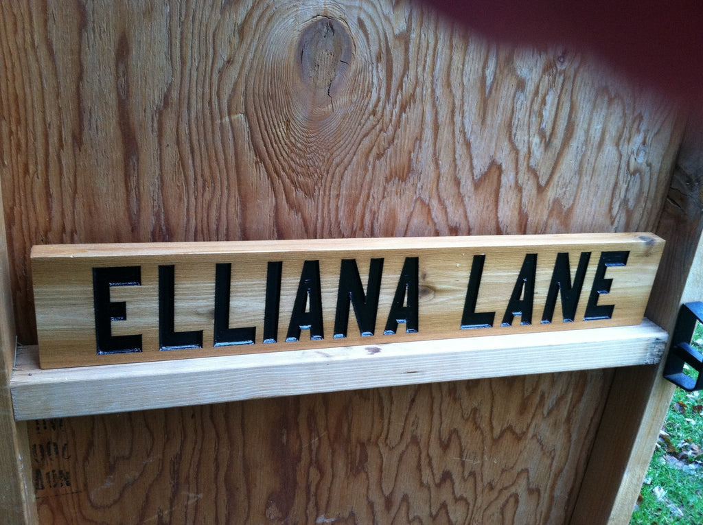 Personalized Street Name Cedar carved sign – The Carving ...