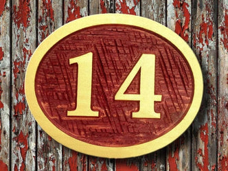 Made to order Exterior Street Address sign / House number - Custom Carved Cedar Sign (A5) - The Carving Company