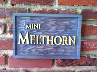 Custom Carved Wood Estate Sign (LN8) - The Carving Company