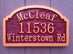 McCleaf Address sign