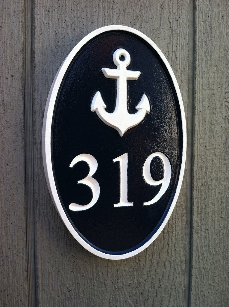 oval house number with scallop sea shell the carving company
