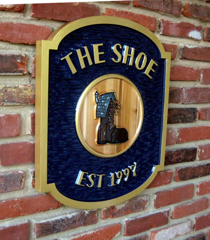 The Shoe cedar sign -iso