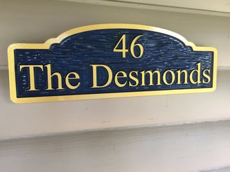 Personalized Street Signs >> Custom Carved Address signs from The Carving Company