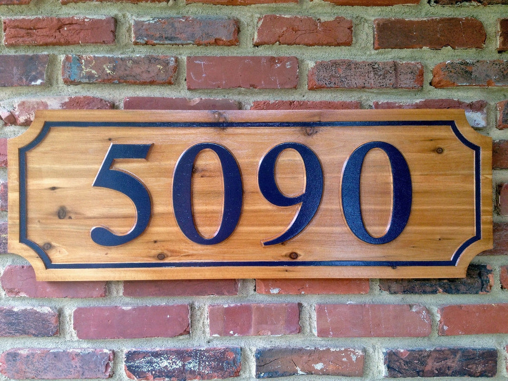 Cedar Custom House number  (A43) - The Carving Company