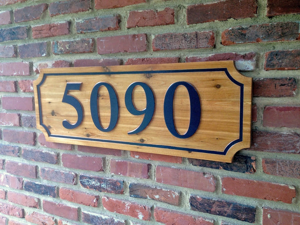 5090 cedar house number sign - iso 1