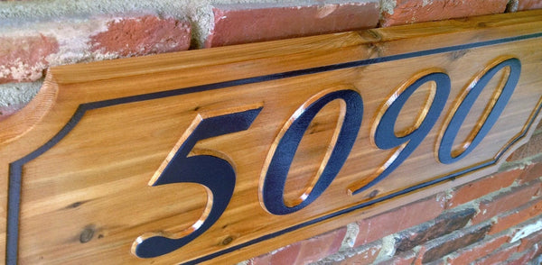 5090 cedar house number sign - iso 4
