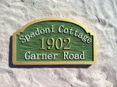 Spadoni Cottage Address Sign