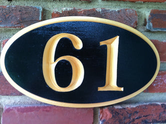 Custom Carved House Number - Street address - House Marker Sign (A19) - The Carving Company